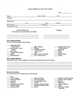 Adult Medical History Form-ENGLISH