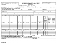 Medicaid Application-ENGLISH